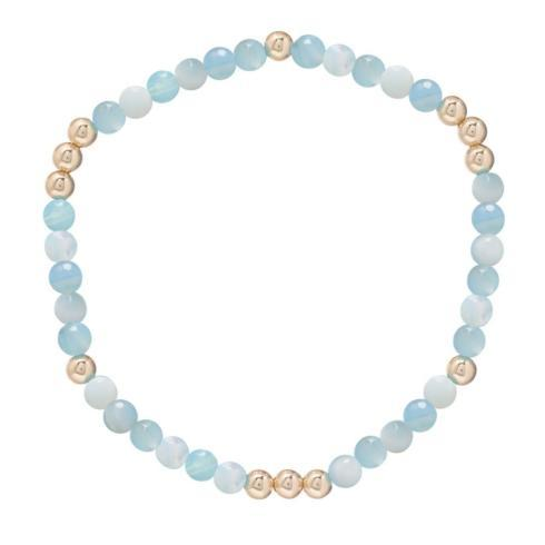 $28.00 worthy pattern 4mm bead bracelet- amazonite