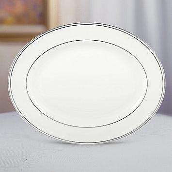"Lenox  Federal Platinum 13"" Oval Platter $170.00"