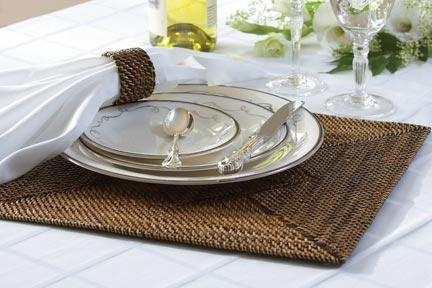 Sq Placemat w/ diamond Pattern collection with 1 products