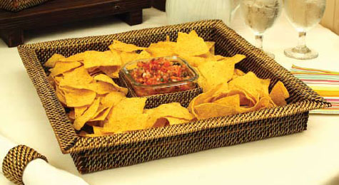 Sq Chip/Dip/Glass Bowl collection with 1 products