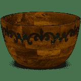 GG Collection   Deep Serv Bowl Wood /Metal $119.00