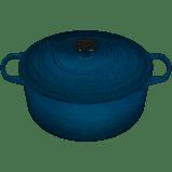 Le Creuset  Enameled Cast Iron 5.5qt Teal Rnd Dutch Oven $360.00