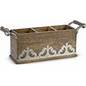 GG Collection   Flatware Caddy Wood/Metal $97.00