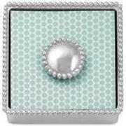 Mariposa  Napkin Boxes Beaded Box/Pearled Weight $48.00