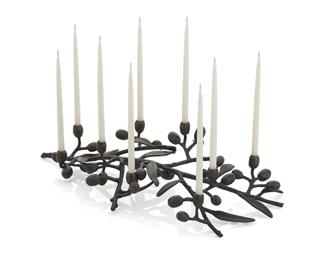 $259.00 Olive Branch Menorah Oxidized