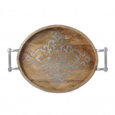 GG Collection   Wood/Metal Oval Tray $171.50