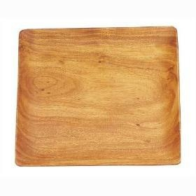 Pacific Merchants   Sq Serving Plate, Wood $20.00