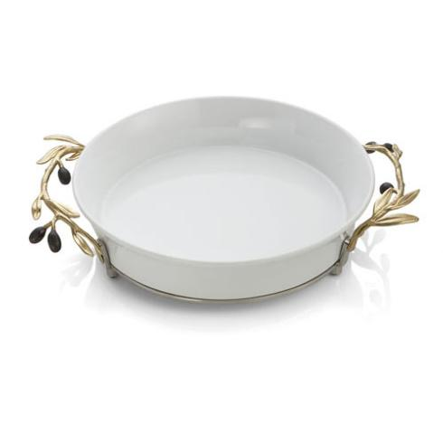 $200.00 Olive Branch Gold Pie Plate