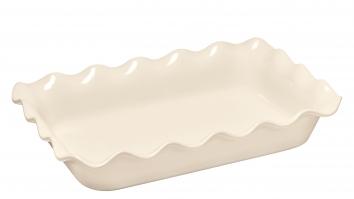 Ruffled Rect. Baker Blanc