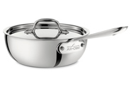All-Clad  Stainless Steel Saucier w/ Lid 3 QT $190.00