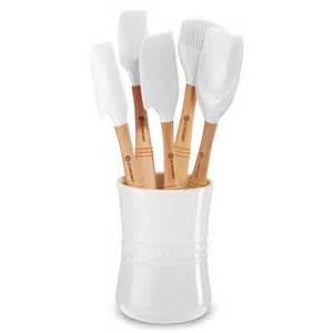 $60.00 5 Pc. Utensil Set White/crock