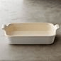 Le Creuset  Stoneware 3.1 qt WH Rect Dish $75.00