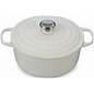 Le Creuset  Enameled Cast Iron 5.5 Qt Rnd Oven Wht $340.00