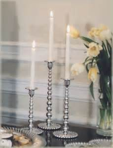 Mariposa  String of Pearls MD Pearled Candlestick $74.00