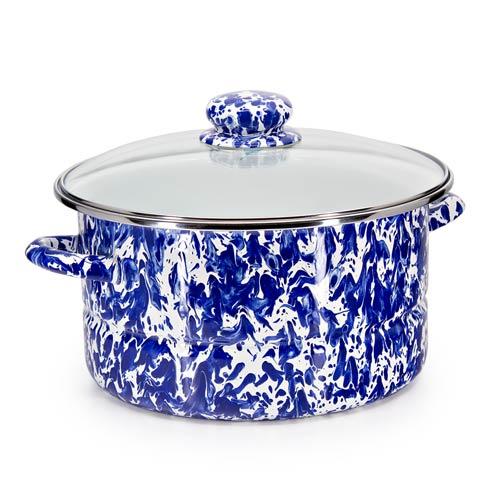 Golden Rabbit Swirls and Solids Cobalt Swirl 6 qt Stock Pot $67.20