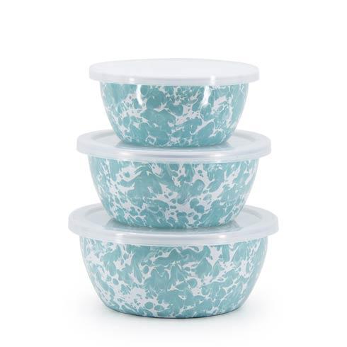 Golden Rabbit Swirls and Solids Sea Glass Swirl Nesting Bowls $39.90
