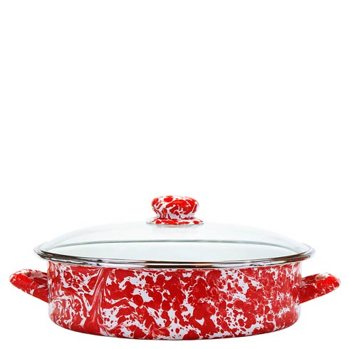 Golden Rabbit Swirls and Solids Red Swirl Large Saute Pan $75.60