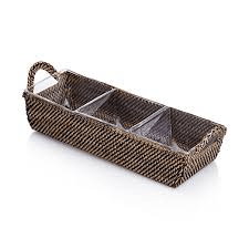3 Compartment Rectangular Tray collection with 1 products
