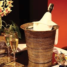 $96.00 Wine & Champagne Holder with Galvanized Bucket