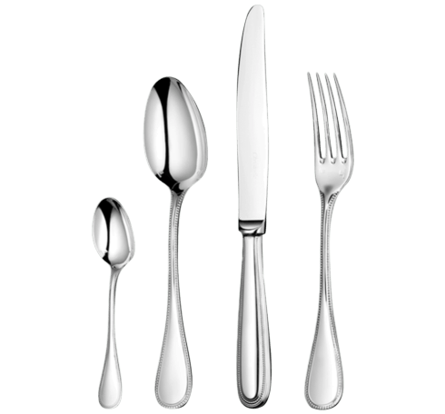 $578.00 Perles Silver-Plated 5 Pc  Place Setting