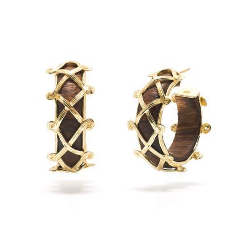 $150.00 Earth Goddess Hoop Teak Earrings * FREE SHIPPING