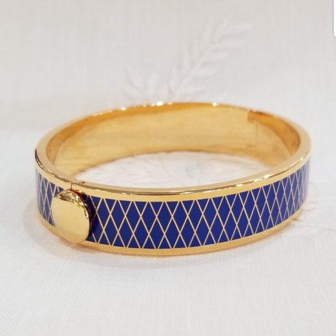 Parterre Bangle in Deep Cobalt Blue and Gold