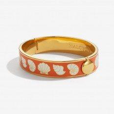 $225.00 Shells Orange Cream and Gold Bangle