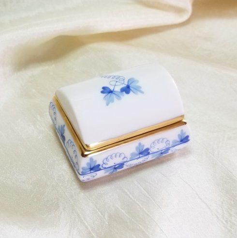 $100.00 Herend Covered Box in Blue