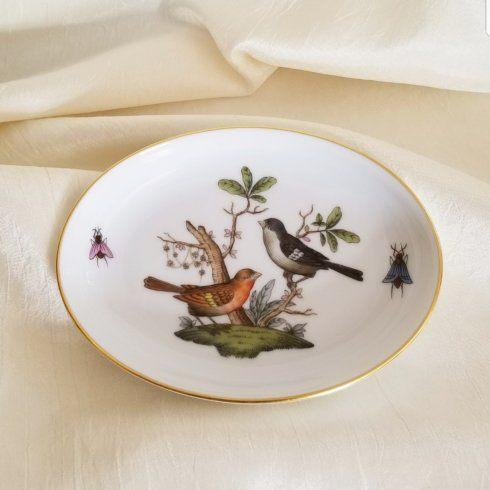 $130.00 Herend Rothschild Bird Small Oval Dish
