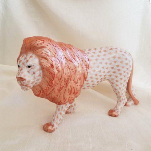 $650.00 Herend Standing Lion in Copper