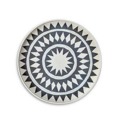 L'Objet   Tribal Diamond Round Platter Medium $150.00