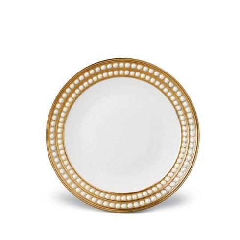 $246.00 L\'Objet Perlee Gold Dessert Plate