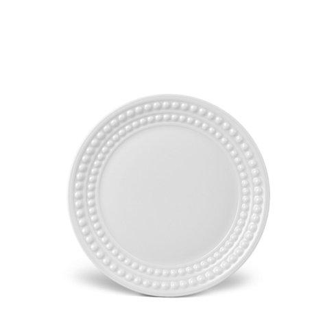 $28.00 L\'Objet Perlee White Bread and Butter Plate