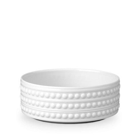 $58.00 L\'Objet Perlee White Deep Bowl Medium