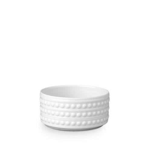 $40.00 L\'Objet Perlee White Deep Bowl Small