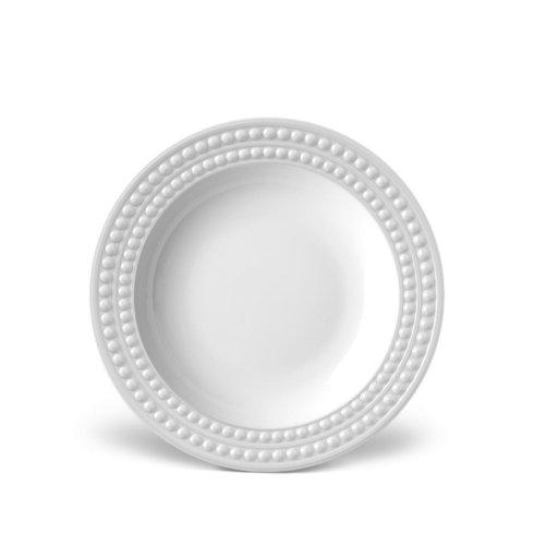 L'Objet Perlee White Soup Plate collection with 1 products