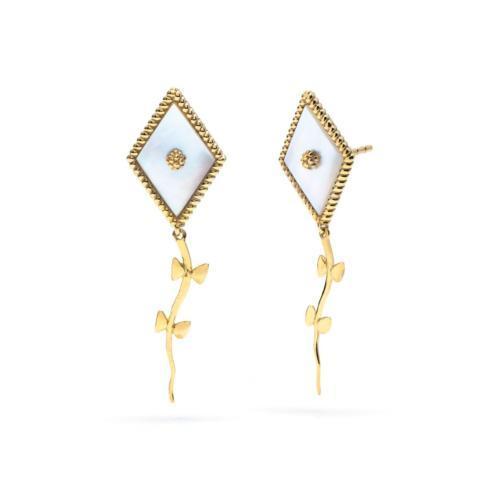 $195.00 Petite Kite Mother of Pearl Earrings