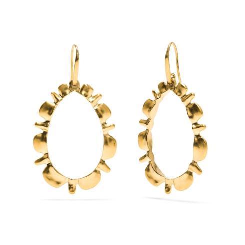 $165.00 Ruffle Drop Earrings Gold * FREE SHIPPING