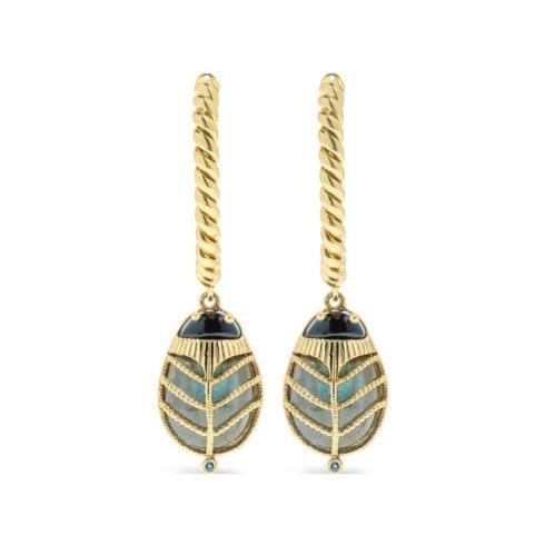 $175.00 Scarab Hoop Earrings