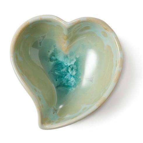 $65.00 Simon Pearce Crystalline Twist Heart Jade
