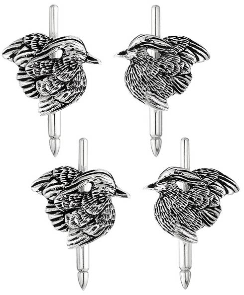 $300.00 Wood Duck Studs - Set of 4 - Sterling Silver