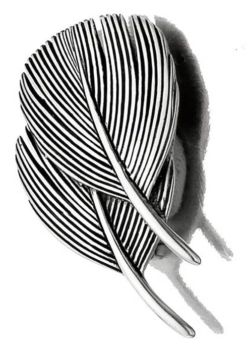 $140.00 Double Dove Feather Pin