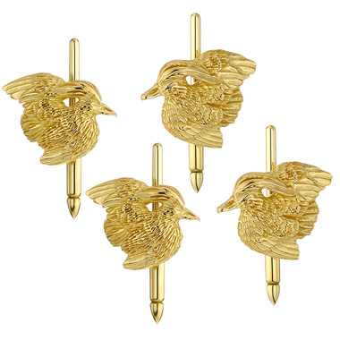 $1,235.00 Wood Duck Studs - Set of 4 - 14kt Gold