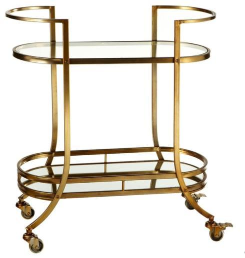2 Tier Glass Bar Cart collection with 1 products