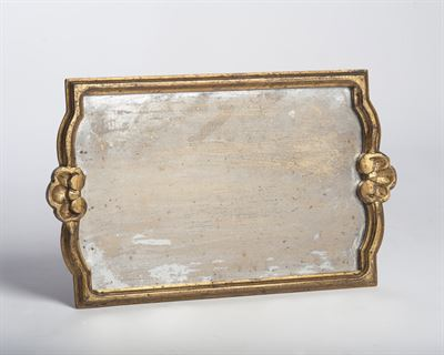 $149.00 Vendome Tray with Antiqued Mirror, Gold