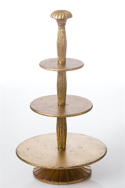 Pastry Stand, Antiqued Gold Wood Finish collection with 1 products