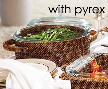 Calaisio   Round Baker, includes Pyrex 2 Qt with cover $77.00