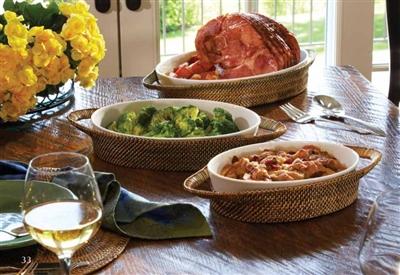 Calaisio   Medium Oval Baker, includes Pyrex dish $88.00