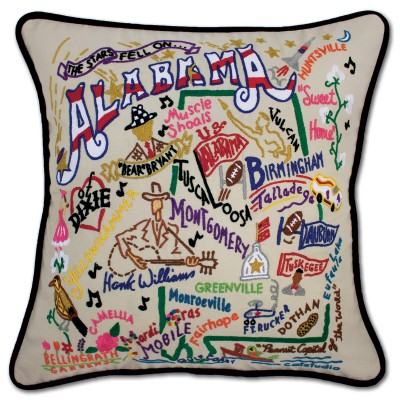 $185.00 Alabama Hand-Embroidered Pillow