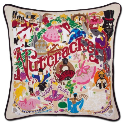 $185.00 Nutcracker Hand-Embroidered Pillow